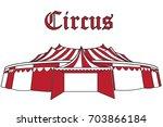 circus tent | Shutterstock .eps vector #703866184