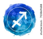sagittarius zodiac sign on... | Shutterstock . vector #703869688