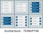 bundle infographic elements | Shutterstock .eps vector #703869748