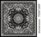 vector ornament paisley bandana ... | Shutterstock .eps vector #703871689