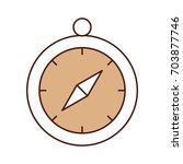 compass guide isolated icon | Shutterstock .eps vector #703877746