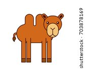 african camel isolated icon | Shutterstock .eps vector #703878169