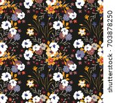 trendy seamless floral pattern. ... | Shutterstock .eps vector #703878250