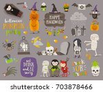 set of halloween sign  symbol ... | Shutterstock .eps vector #703878466