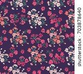 simple cute pattern in small... | Shutterstock .eps vector #703878640