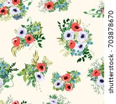 seamless pattern in small... | Shutterstock .eps vector #703878670