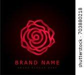 rose red chromium metallic logo