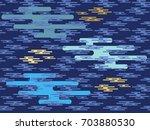 beautiful japanese seamless ... | Shutterstock .eps vector #703880530