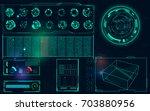 radar screen. vector... | Shutterstock .eps vector #703880956