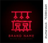 bar red chromium metallic logo