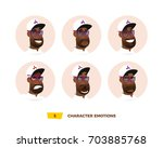 characters avatars emotion in... | Shutterstock .eps vector #703885768