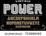 vintage font handcrafted vector ... | Shutterstock .eps vector #703888483