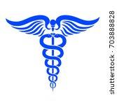 caduceus medical symbol   stock ...   Shutterstock .eps vector #703888828
