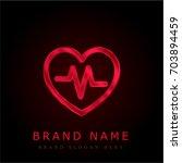 cardiogram red chromium...
