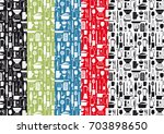 pattern with cooking... | Shutterstock .eps vector #703898650