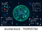 radar screen. vector... | Shutterstock .eps vector #703905760