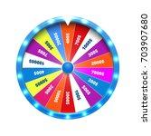 fortune wheel realistic vector... | Shutterstock .eps vector #703907680