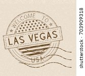 welcome to las vegas  usa.... | Shutterstock .eps vector #703909318