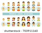 set of people generations... | Shutterstock .eps vector #703911160