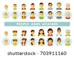 set of people generations... | Shutterstock .eps vector #703911160