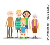 happy family together  ... | Shutterstock .eps vector #703912360