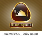 gold shiny emblem with special ...   Shutterstock .eps vector #703913080