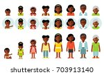 set of african american ethnic... | Shutterstock .eps vector #703913140