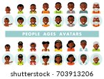 set of african american ethnic... | Shutterstock .eps vector #703913206