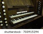 Old Antique Church Organ