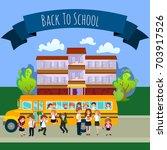 back to school set of... | Shutterstock .eps vector #703917526