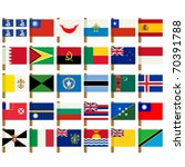 world flag icons set over white ... | Shutterstock .eps vector #70391788