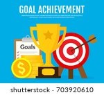 goals and achievements concept. ... | Shutterstock .eps vector #703920610