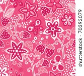 floral seamless texture with a... | Shutterstock .eps vector #70392079