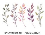 hand drawn watercolor... | Shutterstock . vector #703922824