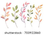 hand drawn watercolor... | Shutterstock . vector #703922860