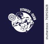 icons for fitness  bodybuilder  ... | Shutterstock .eps vector #703923628