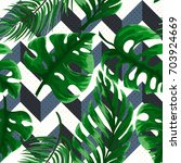 tropical seamless pattern with... | Shutterstock .eps vector #703924669