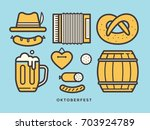 linear of icons on theme of... | Shutterstock .eps vector #703924789