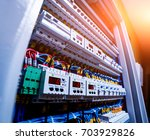voltage switchboard with... | Shutterstock . vector #703929826