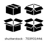 box icon set | Shutterstock .eps vector #703931446