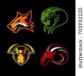 furious fox  snake  hornet and... | Shutterstock .eps vector #703932220