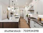 Kitchen Interior With Island ...