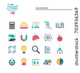 science  experiments ... | Shutterstock .eps vector #703936369