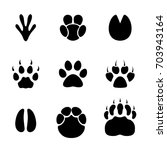 Footprint Animals Set.
