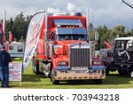 Small photo of NORFOLK, UK - AUGUST 19th, 2017: Truckfest Norwich is a transport festival in the UK based around the haulage industry located in Norfolk. Clive Shaw Kenworth truck. Including Monster Trucks.