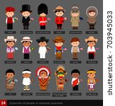 boys in national costumes. set... | Shutterstock .eps vector #703945033