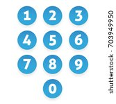 number set circle button | Shutterstock .eps vector #703949950
