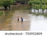 houston  texas   august 27 ... | Shutterstock . vector #703952809