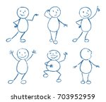 set of wax crayon like kid s... | Shutterstock .eps vector #703952959