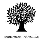 wood stencil with leaves | Shutterstock .eps vector #703953868